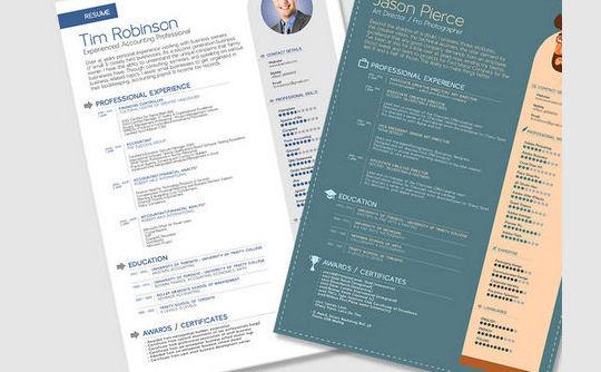 14 Free Simple Resume PSD Mockups & Templates 4