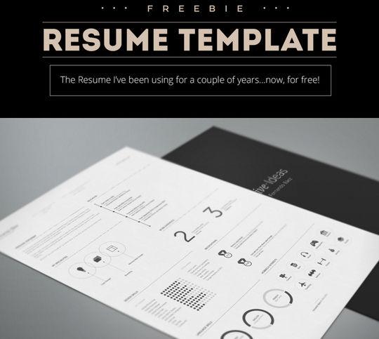 14 Free Simple Resume PSD Mockups & Templates 5