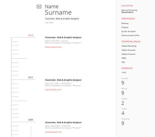 14 Free Simple Resume PSD Mockups & Templates 6