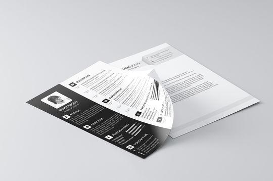 14 Free Simple Resume PSD Mockups & Templates 7