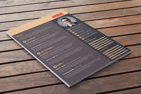 14 Free Simple Resume PSD Mockups & Templates 9