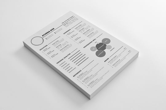 14 Free Simple Resume PSD Mockups & Templates 10