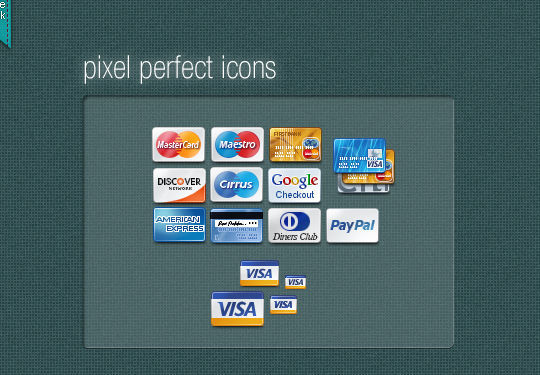 11 Free Credit Card Icon Sets For Online Shops 12