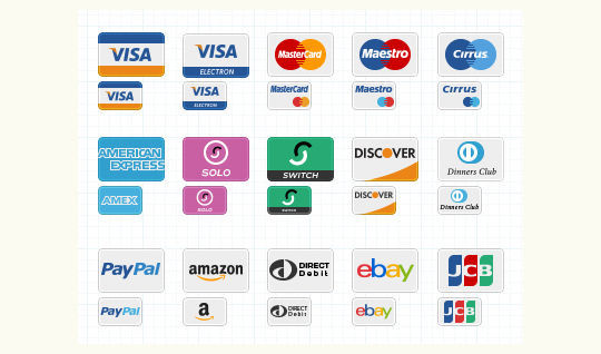 11 Free Credit Card Icon Sets For Online Shops 8