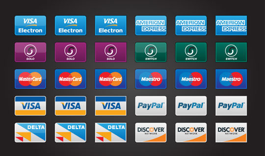11 Free Credit Card Icon Sets For Online Shops 3