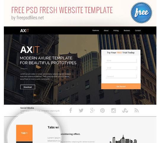 10 Fresh PSD Templates For Websites & Blogs 10