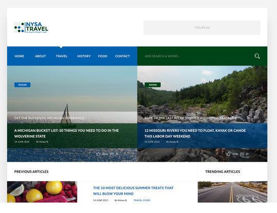 10 Fresh PSD Templates For Websites & Blogs 9