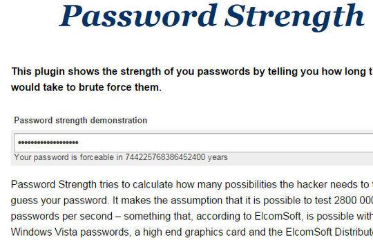 8 Best jQuery Password/Strength Meter Plugins 7
