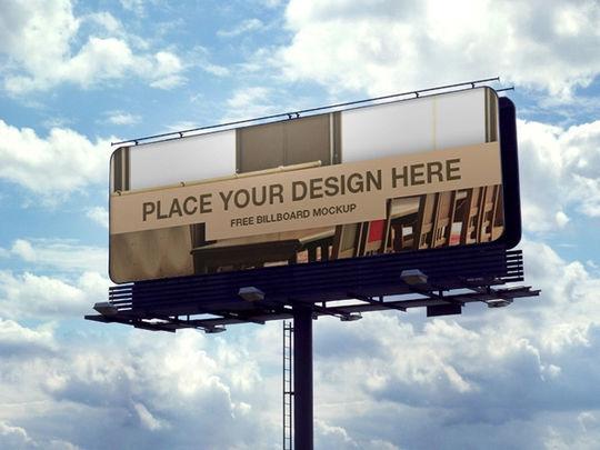 12 Free PSD Outdoor Advertising Billboard Mockups 10