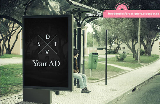 12 Free PSD Outdoor Advertising Billboard Mockups 11