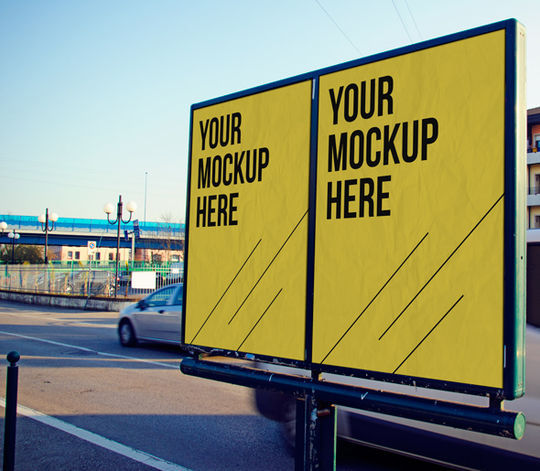 12 Free PSD Outdoor Advertising Billboard Mockups 8