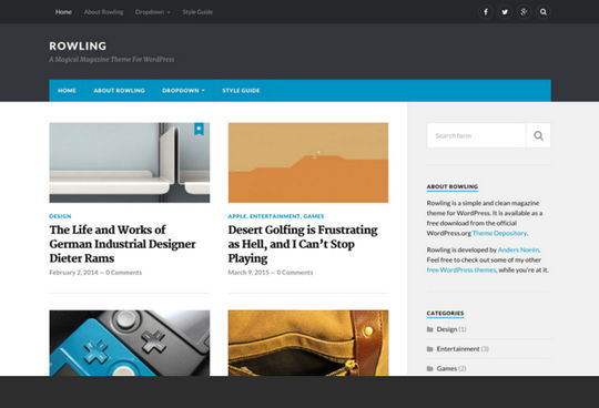 10 Fresh Responsive WordPress Themes 8