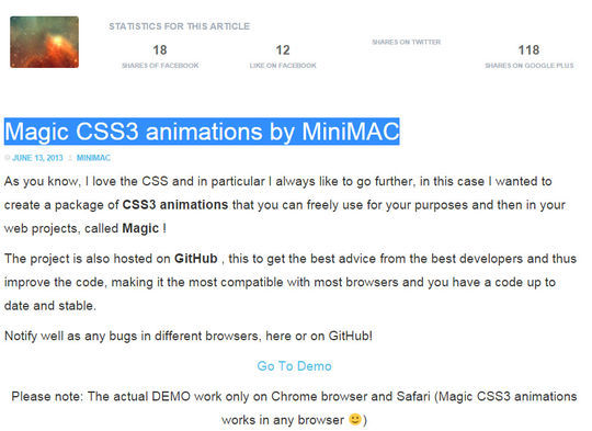 11 CSS3 Animation Tools For Developers 8