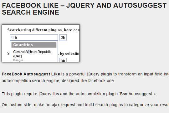 9 Best jQuery Autocomplete Plugins 9