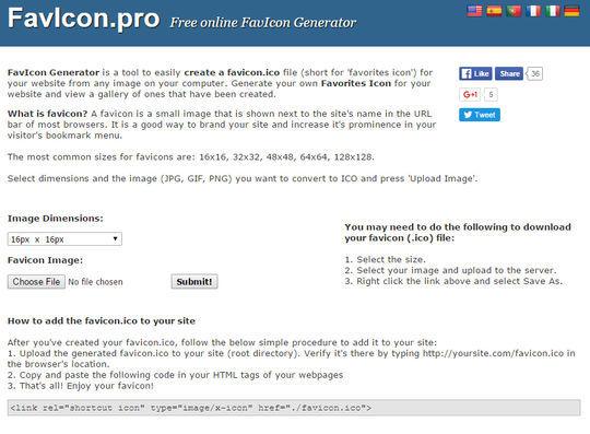10 Free Favicon Generators For Web Designers 8