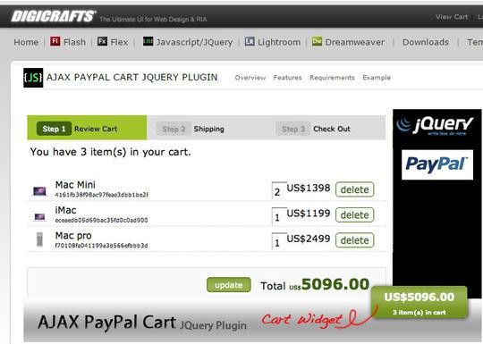 8 Free jQuery Shopping Cart Plugins 8
