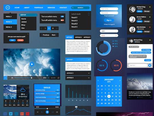 15 Fresh Web User Interface Photoshop Files 6