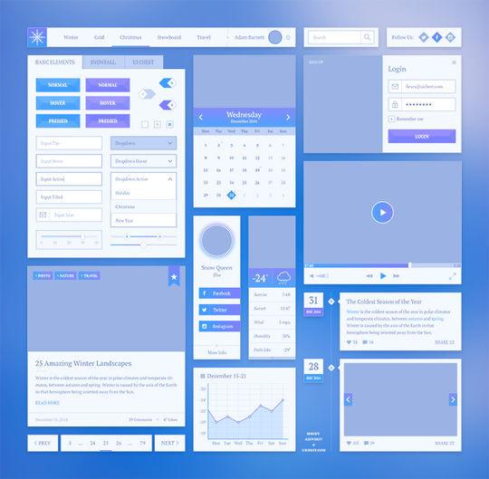 15 Fresh Web User Interface Photoshop Files 3