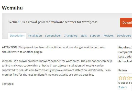 12 WordPress Plugins For Handling Malicious Code 11