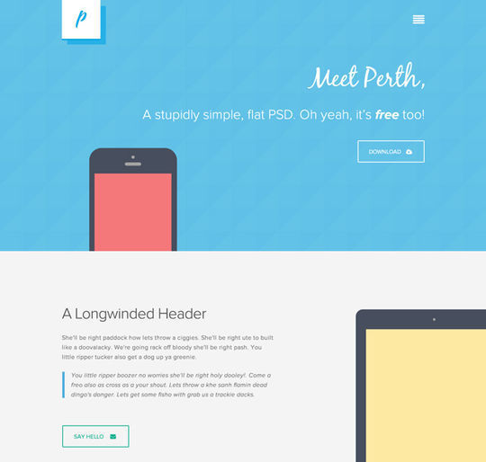 12 Free High Quality Website Template PSDs To Download 2