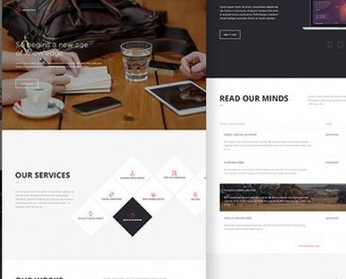 12 Free High Quality Website Template PSDs To Download 11