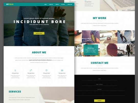 12 Free High Quality Website Template PSDs To Download 12