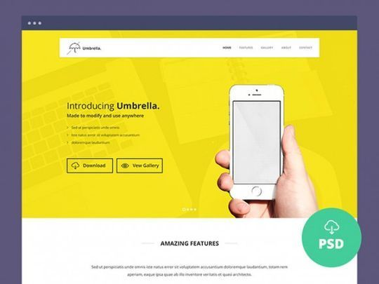 12 Free High Quality Website Template PSDs To Download 13