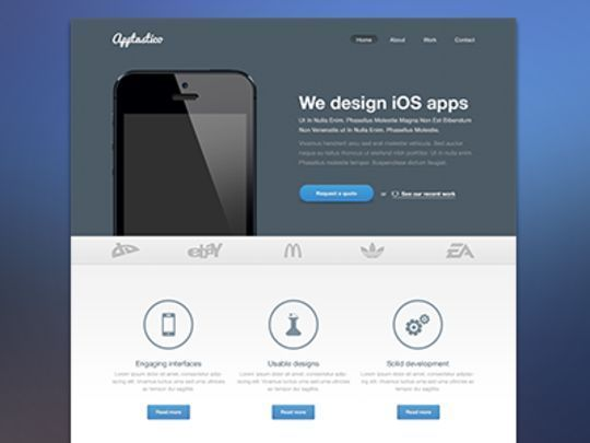 12 Free High Quality Website Template PSDs To Download 3