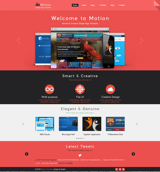 12 Free High Quality Website Template PSDs To Download 1