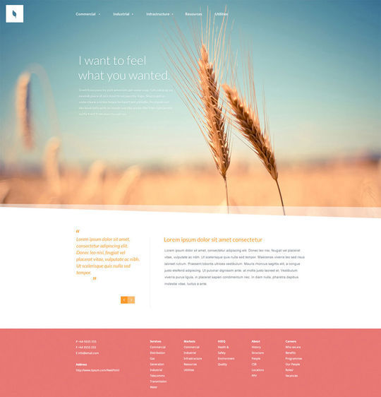 12 Free High Quality Website Template PSDs To Download 5