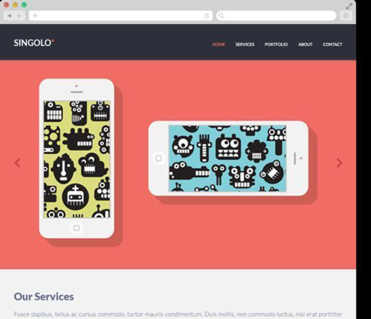 12 Free High Quality Website Template PSDs To Download 7