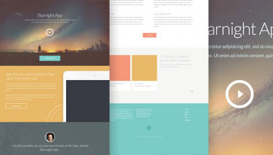 12 Free High Quality Website Template PSDs To Download 9