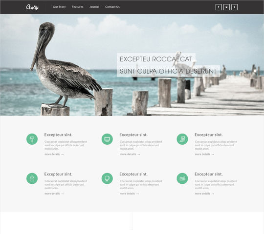 12 Free High Quality Website Template PSDs To Download 10