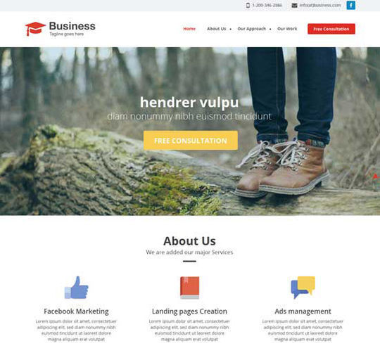 12 Business Website Templates For Your Next Projects 5