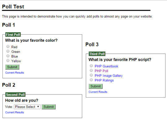 9 Free PHP Scripts For Creating Polls 4
