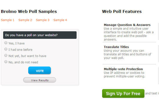 9 Free PHP Scripts For Creating Polls 7