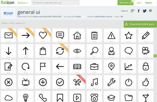 10 Free Creative Sets Of Flat Design Icons 3