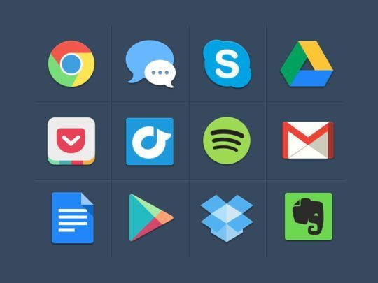 10 Free Creative Sets Of Flat Design Icons 75