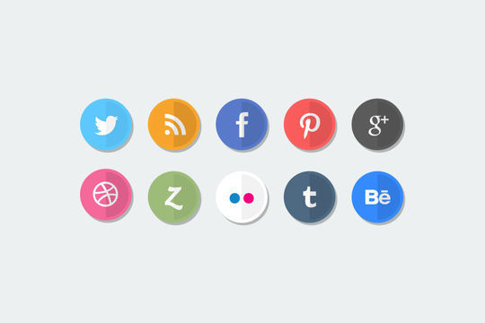 10 Free Creative Sets Of Flat Design Icons 11