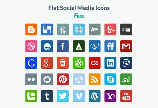 10 Free Creative Sets Of Flat Design Icons 4