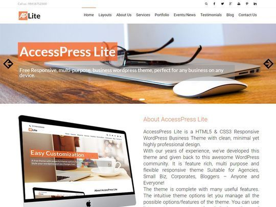 14 Free Responsive WordPress Themes 5