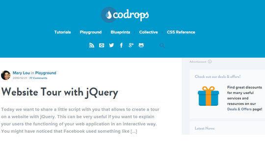 9 Best jQuery Site Tour Plugins 7