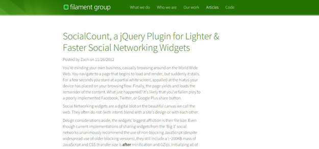 7 Free jQuery Social Sharing Plugins 3