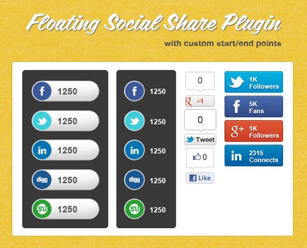 7 Free jQuery Social Sharing Plugins 4