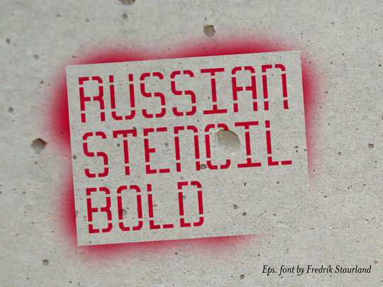 12 Best Free Stencil Fonts For Designers 1