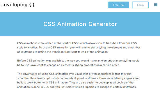 9 Creative CSS3 Animation Tools You Should Bookmark 6