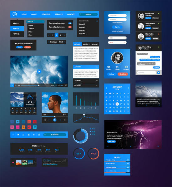 A Worth Checking Out Collection Of Free Graphics Files for Designers 9