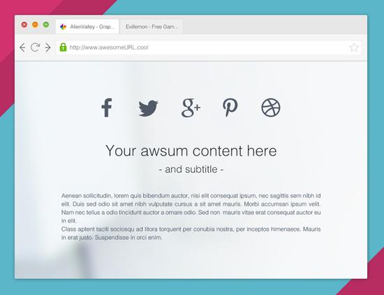 10 Free Web Browser Mockups (PSD, AI) 12