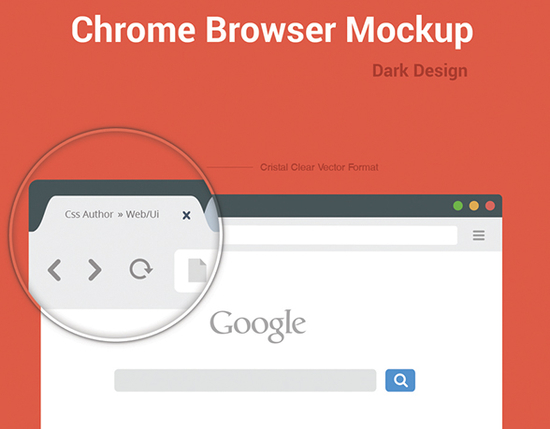 10 Free Web Browser Mockups (PSD, AI) 11