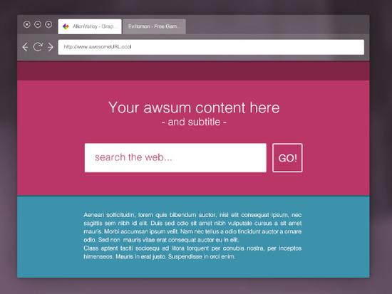 10 Free Web Browser Mockups (PSD, AI) 3